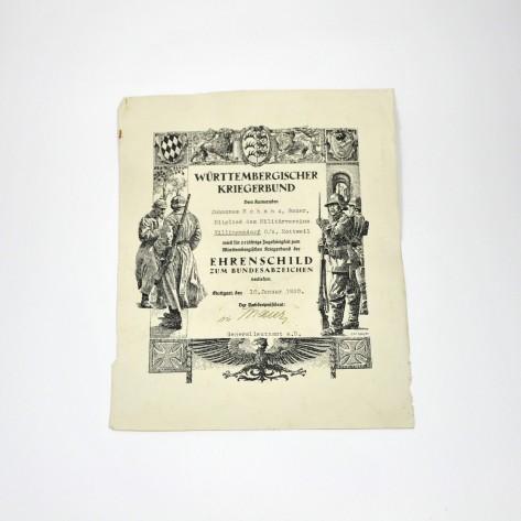 Certificado de distinción (Württemberg)