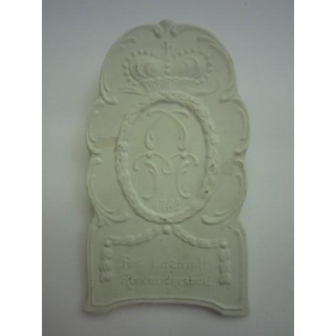 Placa de porcelana (Res. Lazarett Alexandersbad)