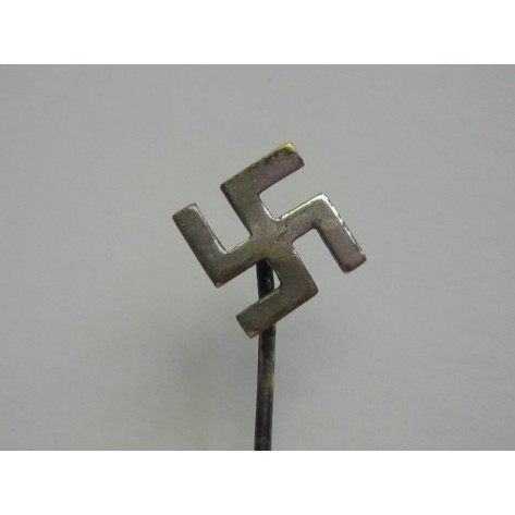 Silvered Swastica Patriotic Pin.