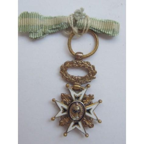 Orden de Carlos II (Cruz de Caballero-Miniatura)