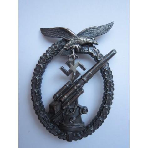 Luftwaffe Flak Badge (crimped ball)