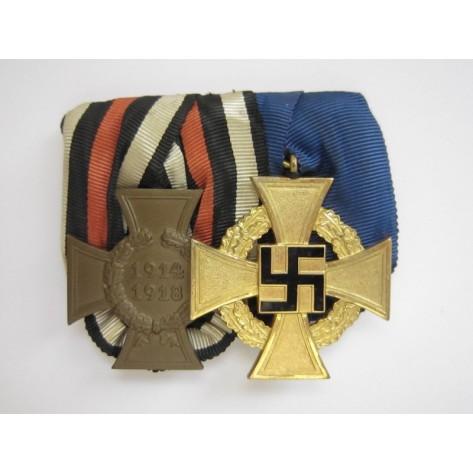 Medal bar with Faithful Service Cross