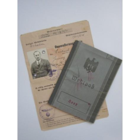 Wehrpass (Veterano Primera Guerra Mundial)