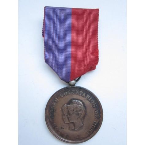 Cuba 1895-1899. Volunteers Medal.