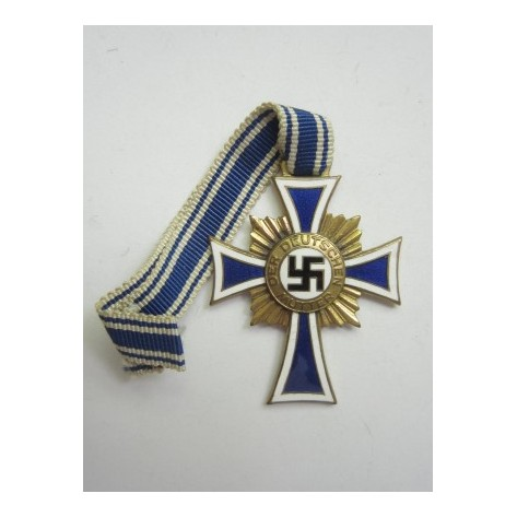 German Mother Cross. Gold.