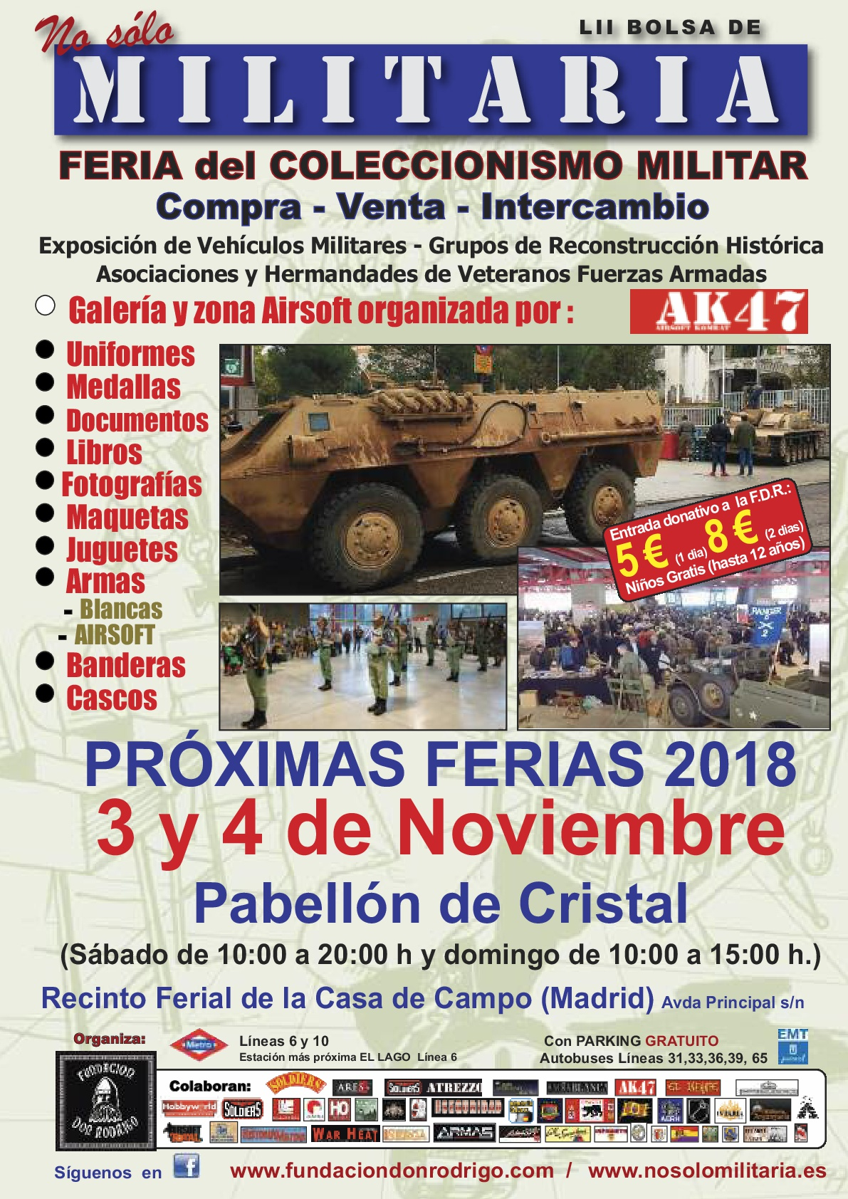 We're preparing our participation in the next Military Fair in Madrid NO SOLO MILITARIA